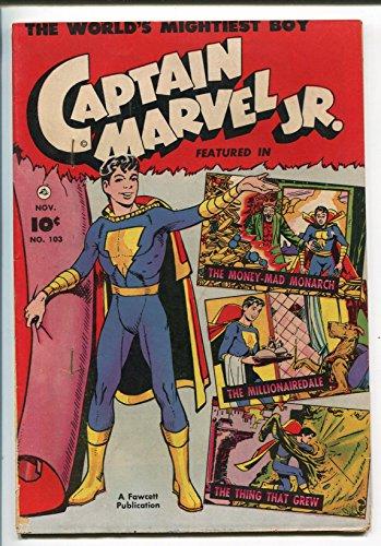 - CAPTAIN MARVEL JR. #103 1951-FAWCETT-HORROR STORY-PRINTING ERROR-fn minus