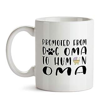 Amazoncom Oma Baby Reveal Gift Mug Bb65 Funny Promoted Dog