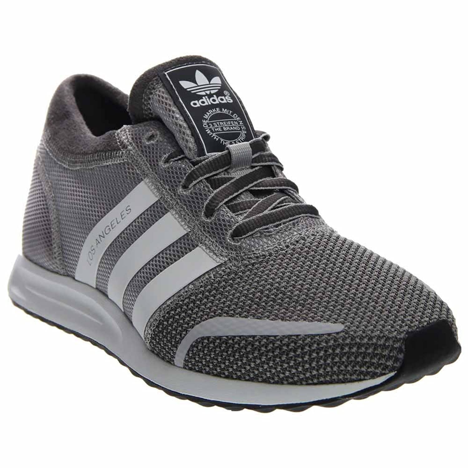 Adidas Los Angeles Men Round Toe Synthetic Gray Sneakers