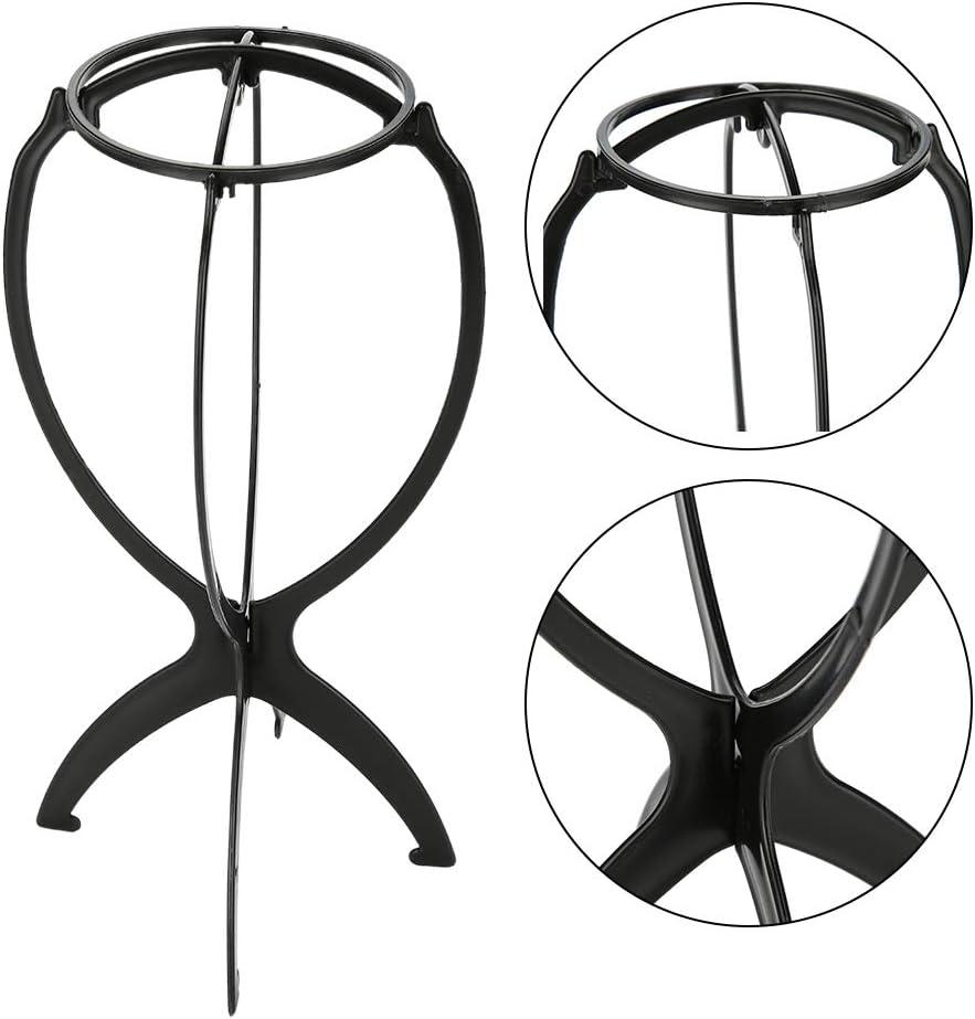 Supporto per parrucca parrucca pieghevole per supporto professionale Supporto per esposizione per parrucca staccabile in ABS da 2 pezzi