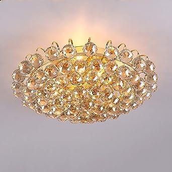 Hdmy 30 Cm Durchmesser Luxus Kristall Wohnzimmer Lampe Mode Kristall Deckenleuchte K9 Kristall Lampe Schlafzimmer Lampe Moderne Deckenleuchte Color Gold Dia 40cm Amazon De Beleuchtung