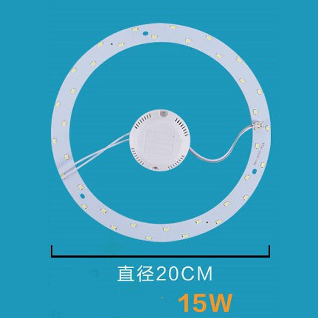5730 SMD Round LED Modulo Scheda con Driver LED Sostituzione Lampada da Soffitto Lampadina AC 220V Bianco Caldo 18W