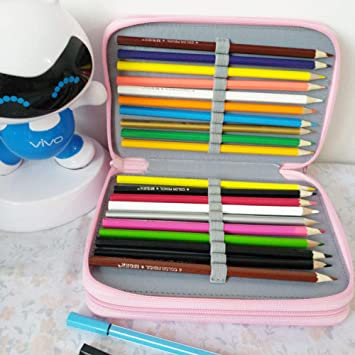 nohbi Estuche Bonito y Divertido,Estuche de 52 bocetos a Color, Estuche poroso, Naranja,para Adolescentes, Estudiantes y Artistas: Amazon.es: Hogar