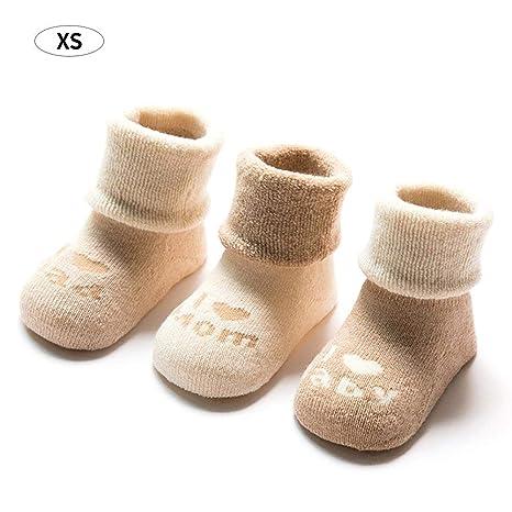 Drau lischen Otoño y Invierno verdickt dibujos animados bebé antideslizantes calcetines de algodón puro niños calcetines