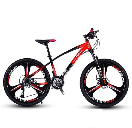 Huoduoduo Bicicleta, Bicicleta De Montaña, 26 Pulgadas De 24 Velocidad, Material De Acero Al Carbono De Alta, El Frente Mecánica Y Frenos De Disco Traseros, Neumático Antideslizante: Amazon.es: Hogar