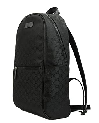 ce4ca5838b6 Gucci Nylon GG Guccissima Slim Backpack Travel Bag (Black)  Amazon.co.uk   Clothing