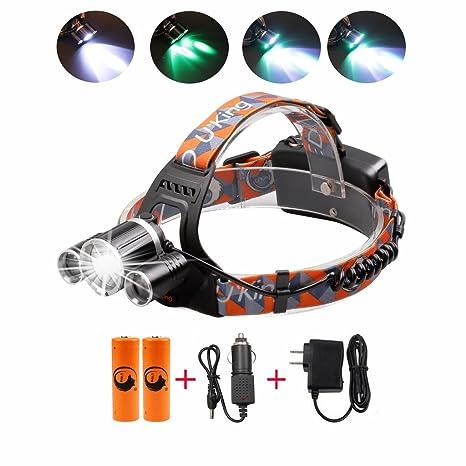 Amazon Com Rechargeable Headlamp 3000 Lumen Brightness Waterproof