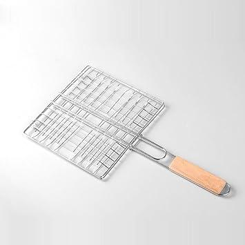 SINCERE@ clip de pescado a la plancha de acero inoxidable herramientas de accesorios para parrillas de barbacoa de pescado de pescado clip de pinza neta ...