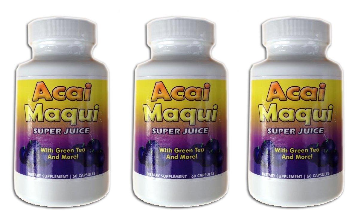 Eden Pond Acai Maqui Weight Loss Pills,60 Capsules, 3 Count
