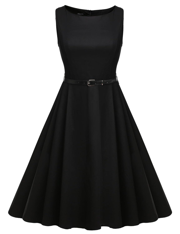 Zearo Retro Kleider Damen Partykleider Elegante Abendkleider ...