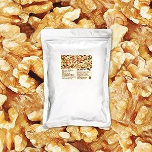 黄金生くるみ 1kg 産地直輸入 アメリカ産 生 無塩 無添加 チャック付袋