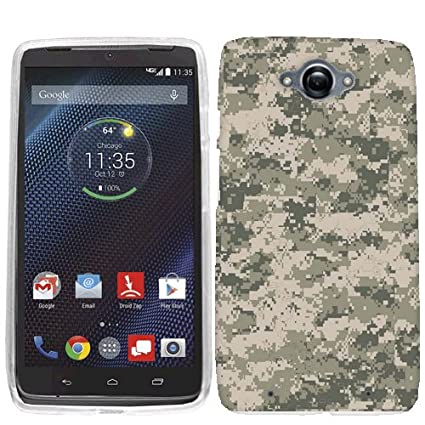 For Motorola Droid Turbo Digital Camo Case Cover