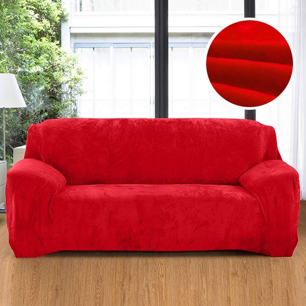 YZFZP Housse de Canap/é Velour Couverture Sofa /élastique Orange 1 Place 90-140cm