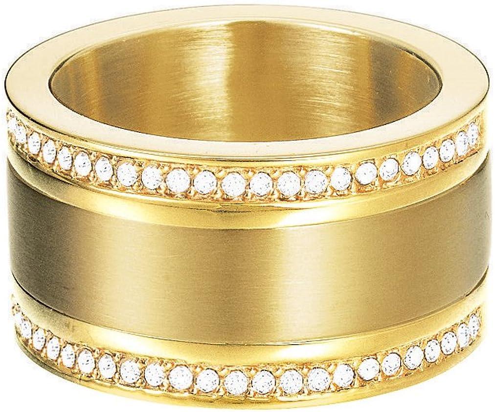 ESPRIT Damenring Edelstahl Silber Achat Pure Stone Ring ESRG11581B