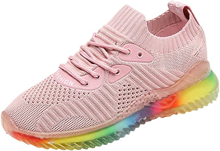 SuperSU Damen Sneaker Sommer ►▷Damen Mode Mesh Frenulum Bunt Jelly Sohle Schuhe,Student Anti Rutsch Sports Strandschuhe Arbeitsschuhe Turnschuhe