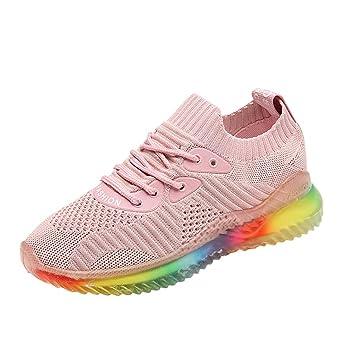 9112efc366ce6 Amazon.com: Wulofs Women's Trend Rainbow Jelly Soles Sneakers ...
