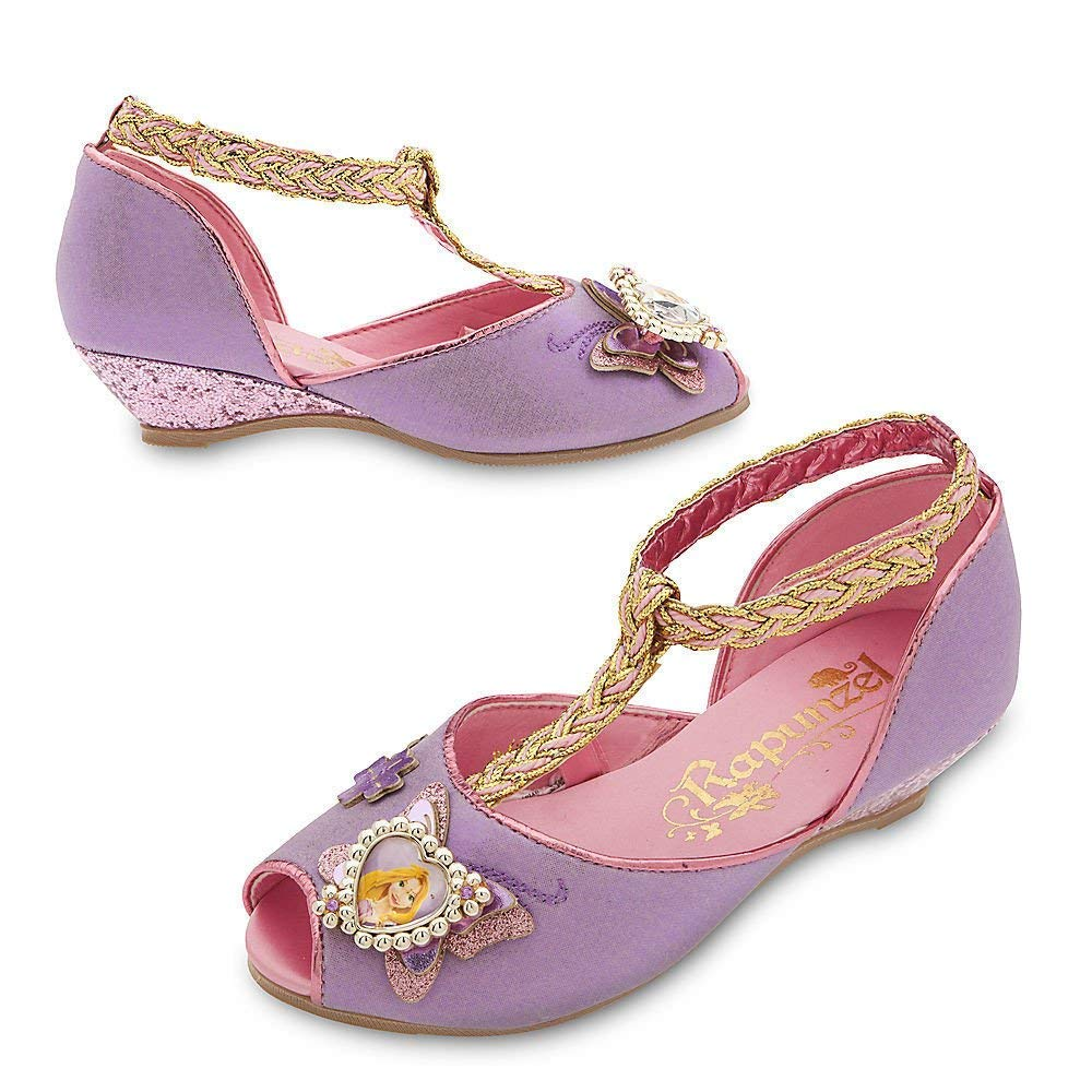 Disney Store Deluxe Rapunzel Costume Shoes Heels For Girls Size 11-12 M US Toddler 00-I29EZMYD-VO