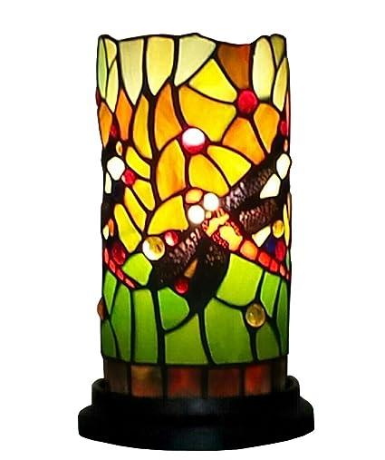 Amora Lighting AM1015ACC Tiffany Style Dragonfly Mini Table Lamp, 10u0026quot;