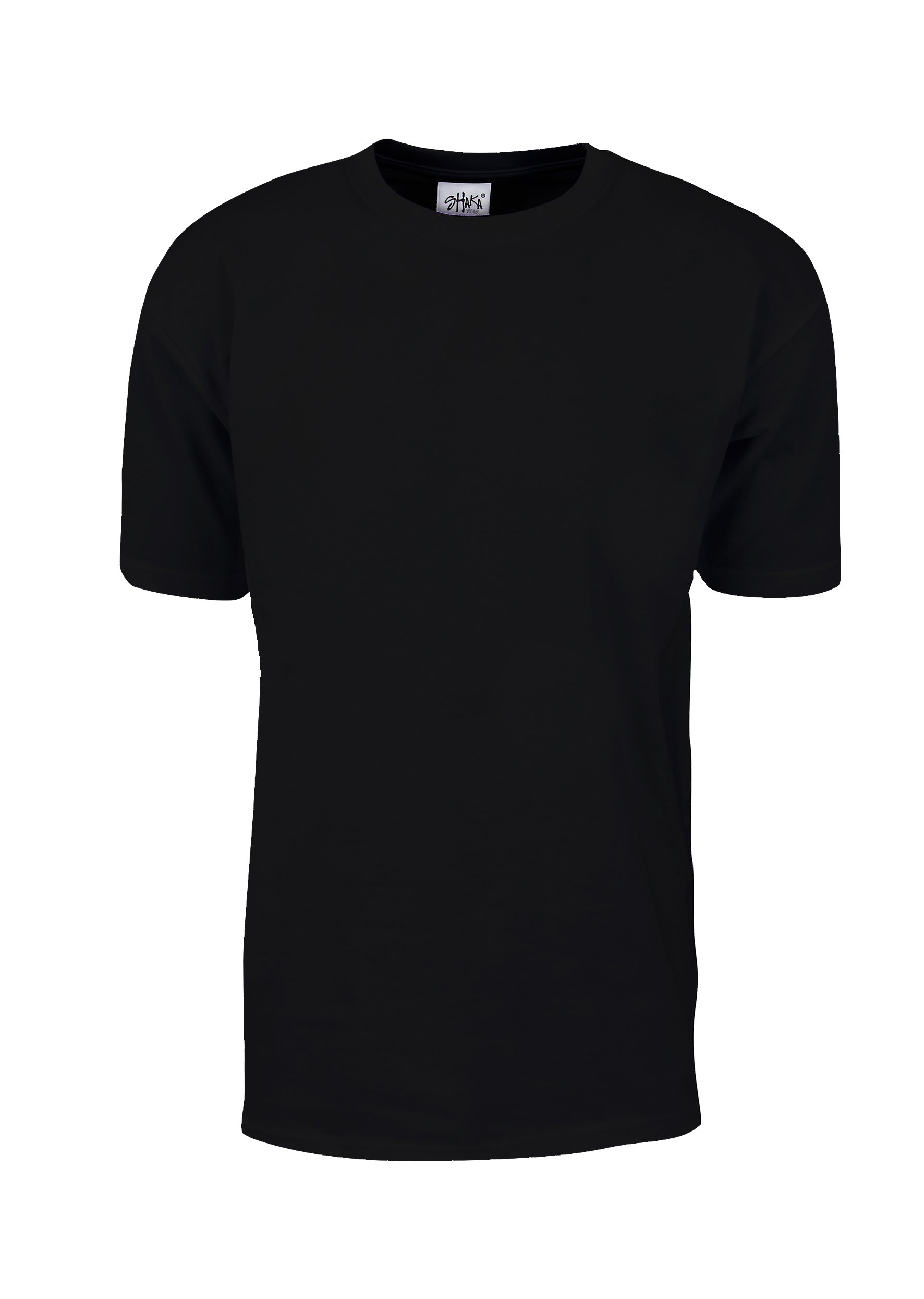 MHS02_XL Max Heavy Weight Cotton Short Sleeve T-Shirt Black 1X