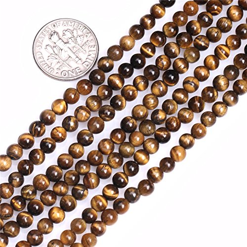 Tigers Eye Bead - Joe Foreman Tiger Eye Beads for Jewelry Making Natural Gemstone Semi Precious 4mm Round 15