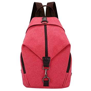 c8447457f24c Amazon.com : Vintage Women Backpack JIUDASG Pure Color Canvas ...