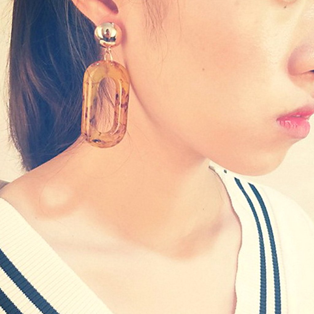 IUHA Exaggerated personality Design Round Shaped Hoop Earrings For Women//Girls