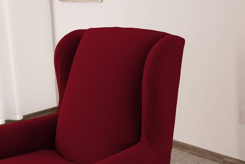 Sand Sessel-/Überw/ürfe Ohrensessel /Überzug Bezug Sesselhusse Elastisch Stretch Husse f/ür Ohrensessel E EBETA Jacquard Sesselbezug