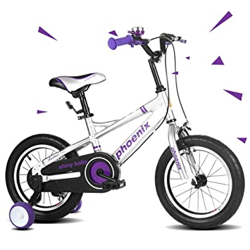 Gbf Bicicletas para Niños Bicicletas 16/14/12/18 Pulgadas Niñas Niños Bicicletas