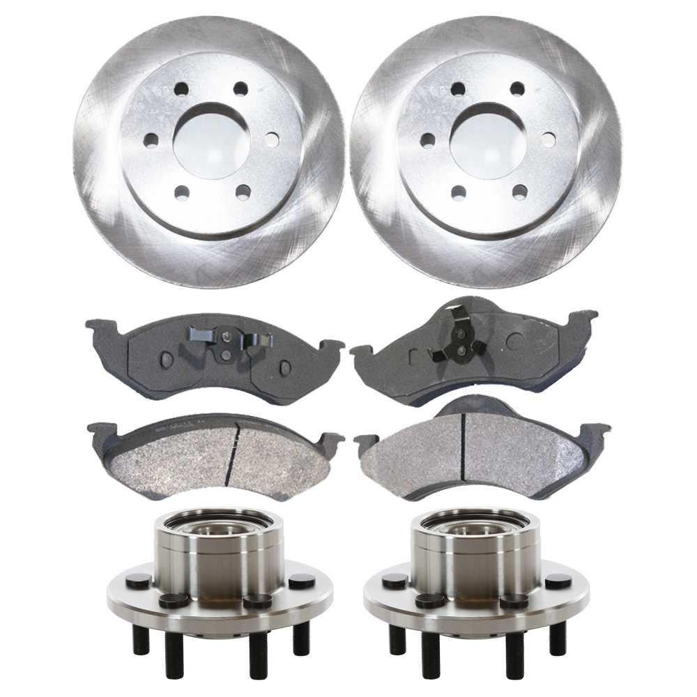 Prime Choice Auto Parts HB615068PR Front Pair 2 Wheel Hub Bearing Assemblies 6 Stud