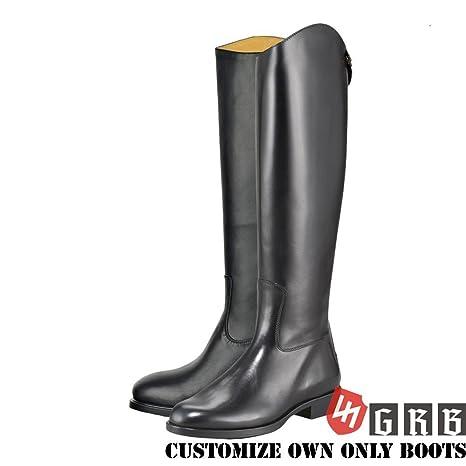 2a795ae921b8b Amazon.com : GRB Men's Decent Dress Dressage Boots With Zipper ...