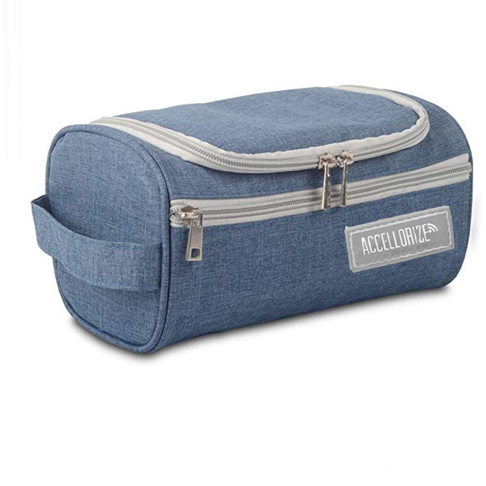 Toiletry Bag Cosmetic Bag Portable Makeup Waterproof Travel Hanging Organizer Bag for Men (Blue)