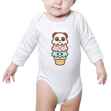 a08a90437 Amazon.com: SNB WY Panda Bear ice Cream Bodysuits Outfits Organic Panda  Bear Ice Cute Baby Onesie Long Sleeve Panda Bear Ice Toddler Art: Clothing