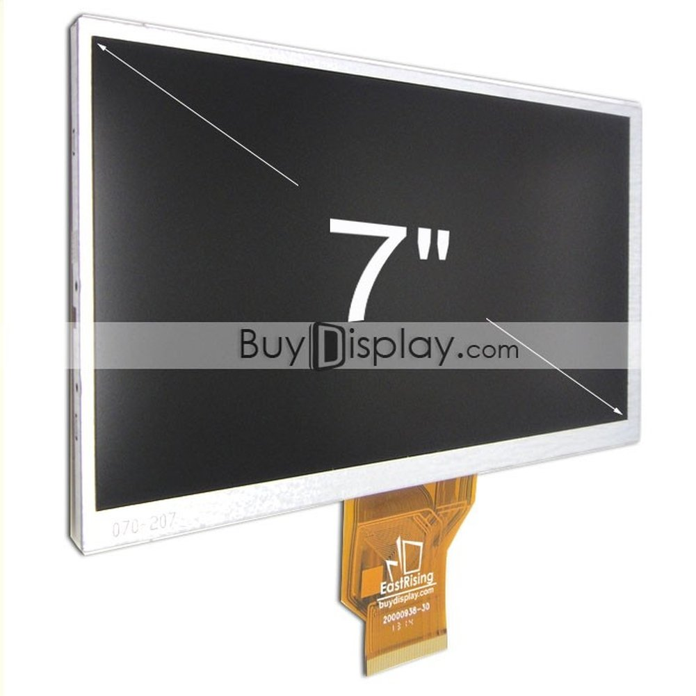 EastRising - buydisplay 7' LCD Screen TFT Display Module WVGA 800x480 inkl. Touchscreen resistiv, AT070TN90 AT070TN92 Innolux olimex chimei