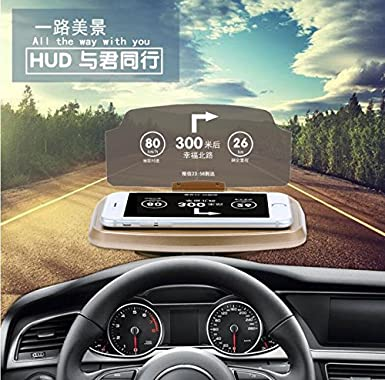 yichumy Universal coche HUD proyector coche HUD para teléfono Soporte Coche HUD proyector para coche GPS HUD Head Up Display Soporte reflector teléfono ...