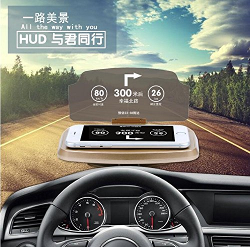 yichumy Universal coche HUD proyector coche HUD para teléfono ...