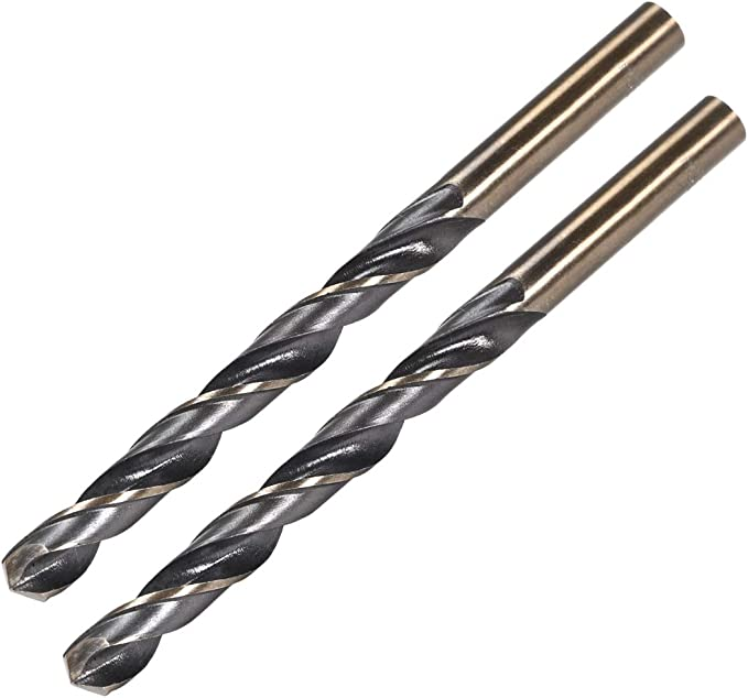 uxcell Reduced Shank Twist Drill Bits 4mm High Speed Steel 4341 with 4mm Shank 5 Pcs