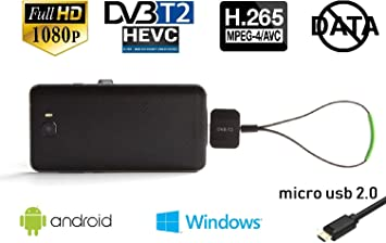 Maxxo Móvil Receptor TDT DVB-T2 para teléfonos Android y PC Windows Decodificador TV portátil Full HD H.265/H.264 sin Usar Datos!: Amazon.es: Electrónica