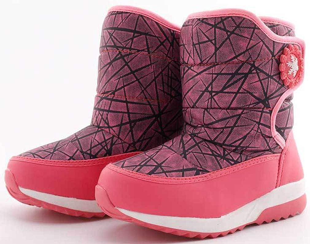 VECJUNIA Boys Girls Fashion Waterproof High Top Thicken Snow Boots Winter Toddler//Little Kid