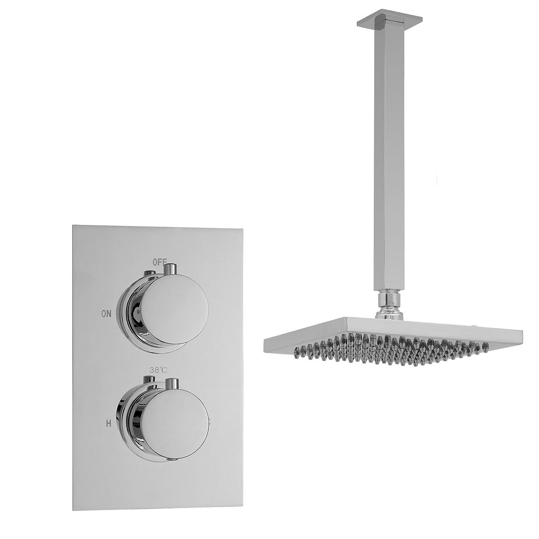 ENKI Miscelatore termostatico a incasso per doccia tondo soffitto soffione