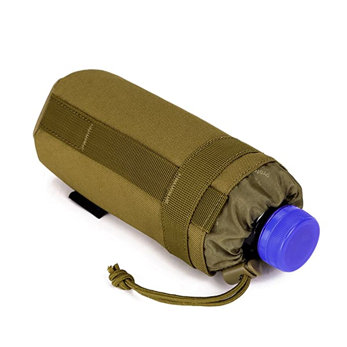Adjustable Tactical Water Bottle Pouch Foldable MOLLE Water Bottle Holder Attachment Carrier for Backpack/Waist Bag/Belt