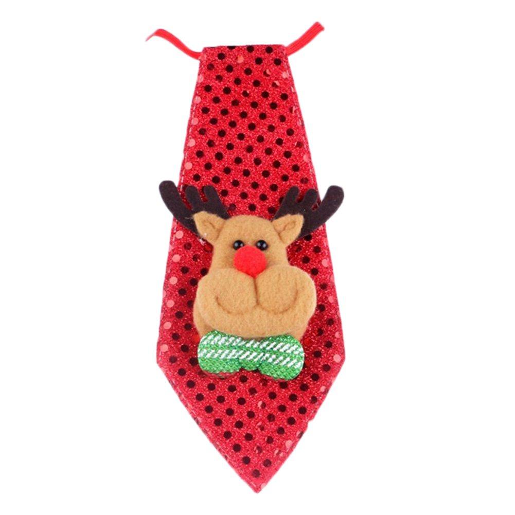 chytaii cravatta a paillettes luminosa decorazione regali per bambini Natale Rose