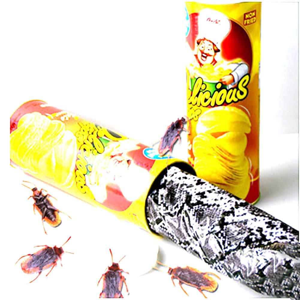 1pcs Tricky espeluznante papas fritas cubo que despide serpiente + Cinco libélulas de juguete para Halloween y el día de los inocentes Xiton