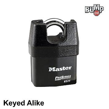 Master - Candado de alta seguridad cerraduras # 6325nka - Bump: Amazon.es: Coche y moto