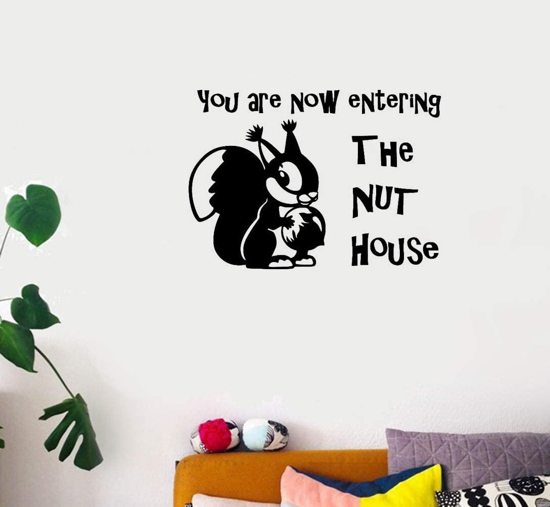 Vinly Art Decal Words Quotes You are Now Entering The nut House for Living Room