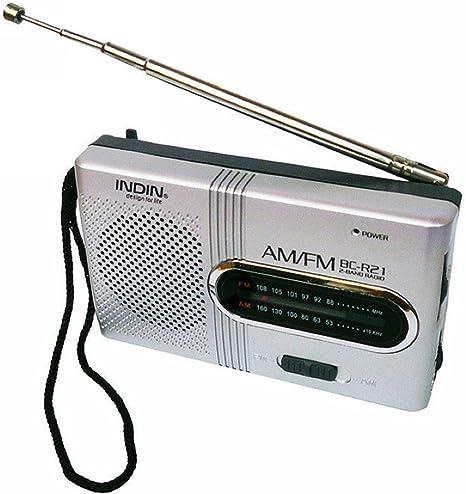 Regard L BC-R21 Mini Radio portátil Am FM Antena telescópica de Bolsillo Receptor de Radio Mundial Pilas del Altavoz