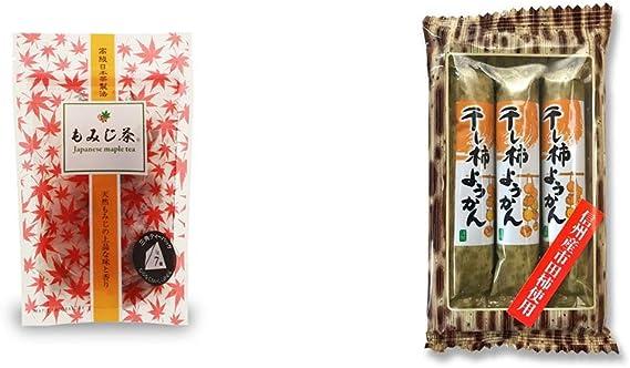 [2点セット] もみじ茶(7パック入)・信州産市田柿使用 スティックようかん[柿](50g×3本)