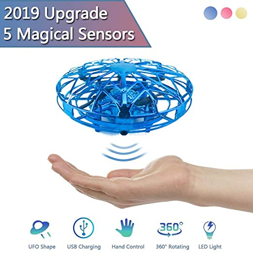 Goglor Hand Operated Mini Drone Gesture Sensing Flying Ball Toys ...