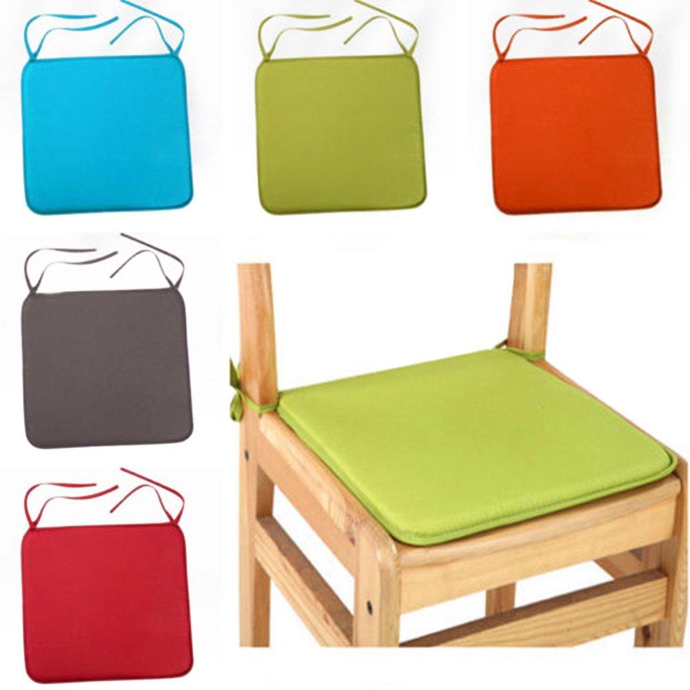 da Giardino Cuscini per Sedia HOMYY con Cordoncino per terrazzo Beige 40cm by 40cm Quadrati Solidi casa Set di 6 Cuscini per sedie
