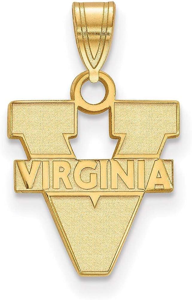Lex /& Lu LogoArt 10k Yellow Gold University of Virginia Small Pendant LAL130176