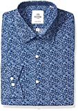 Ben Sherman Mens Blue Floral Print Slim Fit Dress Shirt